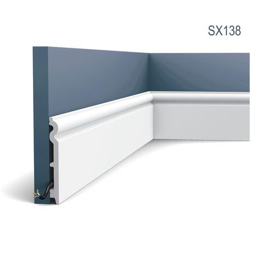 Sockelleiste Fußleiste von Orac Decor SX138 AXXENT Profilleiste Wand Boden Leiste mit Kabelschutz Funktion   2 Meter – Bild 1