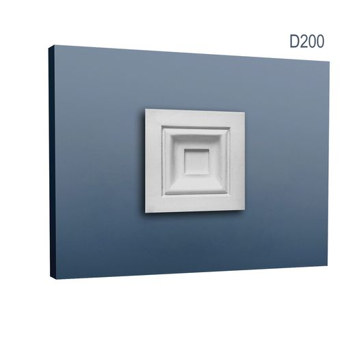 Decoration Element of stucco Orac Decor Window and Door frame D200 LUXXUS Corner plate Profile classic 9 x 9 cm – Bild 1