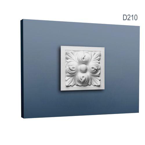 Zierelement Stuck Orac Decor D210 LUXXUS Türumrandung Stuck Decken Wand Dekor Profil Akanthus Blätter | 9 x 9 cm – Bild 1
