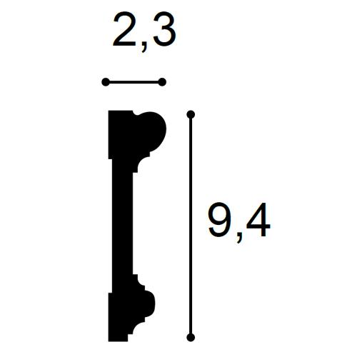 Türumrandung Stuck Orac Decor DX121-2300 LUXXUS Zierleiste Wandleiste Rahmen Dekor Element Leiste | 2,30 Meter – Bild 2