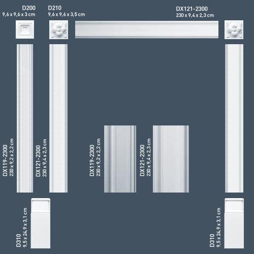 Encadrement de porte Orac Decor DX121-2300 LUXXUS Corniche Moulure Profil décoratif de stuc | 2,30 m – Bild 3