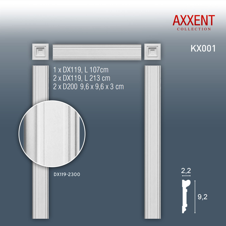 orac decor kx001 axxent set t rumrandung profilleisten wand rahmen dekor leiste ebay. Black Bedroom Furniture Sets. Home Design Ideas