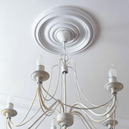 Rosace Décoration de plafond Elément de stuc Orac Decor R08 Elément décoratif Motif anneau classique | 38 cm diamètre – Bild 3