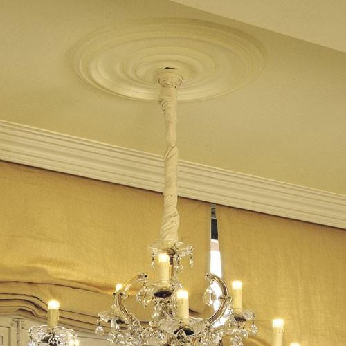 Rosetón Florón Elemento decorativo de estuco Orac Decor R09 LUXXUS para techo o pared Estilo clásico 48 cm diámetro – Imagen 3