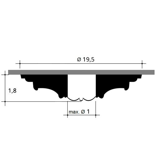 Medaillon R12 Blume-Blätter-Dekor Durchmesser 20 cm – Bild 2