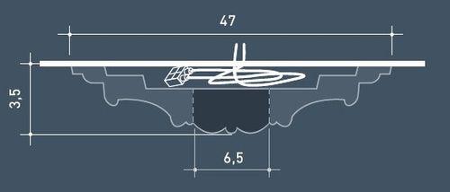 Rosetón Florón Elemento decorativo de estuco Orac Decor R17 LUXXUS para techo Motivo de hojas antigua 47 cm diámetro – Imagen 3
