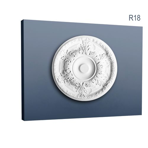 High quality classic leaf design medallion Centre Ceiling Rose Rosette Orac Decor R18 LUXXUS 49cm = 19 inch diameter – Bild 1