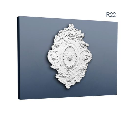 "Orac Decor R22 LUXXUS Medallion Centre Ceiling Rose Rosette quality classic decorative design 77 x 52,5 cm - 30"" x 21"" – Bild 1"