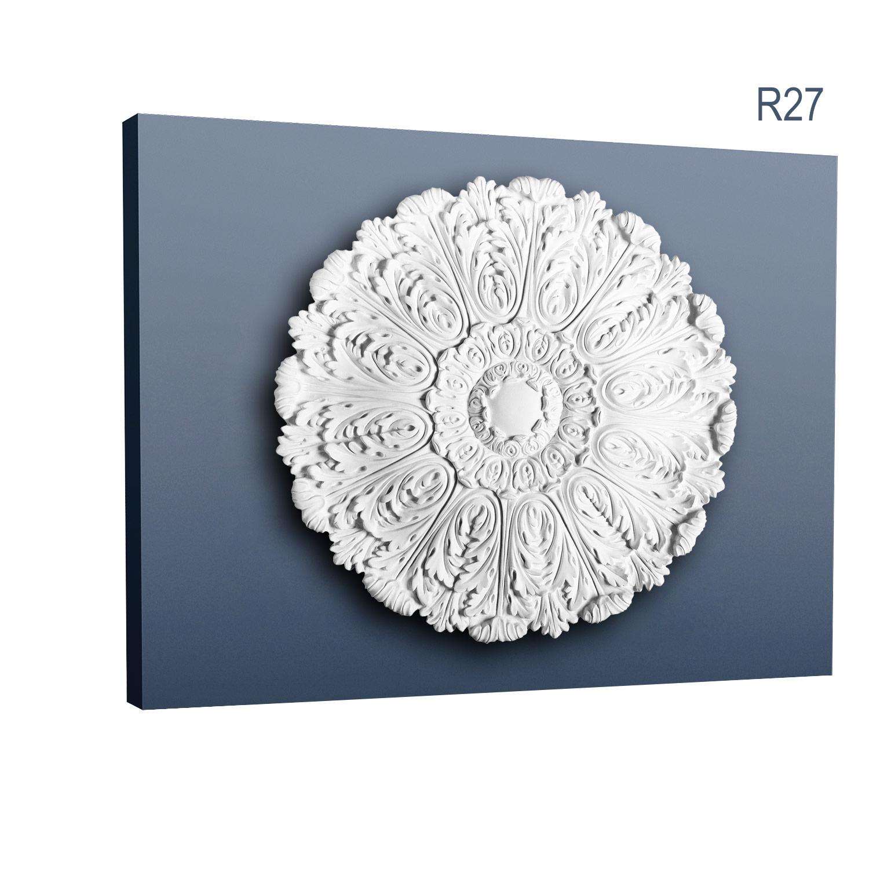 74,50 cm Durchmesser Deckenrosette Stuck Orac Decor R40 LUXXUS Rosette Decken Wand Dekor Element hochwertig stabil