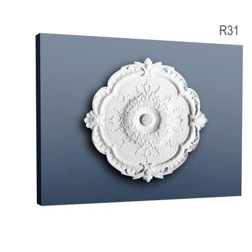 High quality decorative design medallion Centre Ceiling Orac Decor R31 LUXXUS Rose Rosette 38,5 cm = 15 inch diameter – Bild 1