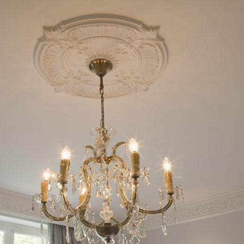 Rosace Décoration de plafond Elément de stuc Orac Decor R73 LUXXUS Elément décoratif blanc | 70 cm diamètre – Bild 2