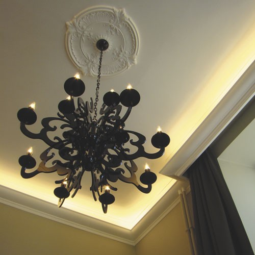 Rosetón Florón Elemento decorativo de estuco Orac Decor R73 LUXXUS para techo o pared de poliuretano 70 cm diámetro – Imagen 3