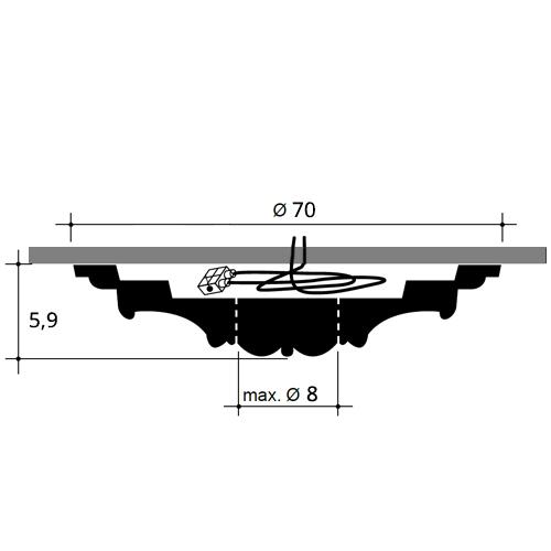 Stuckrosette R73 Durchmesser 70 cm – Bild 2