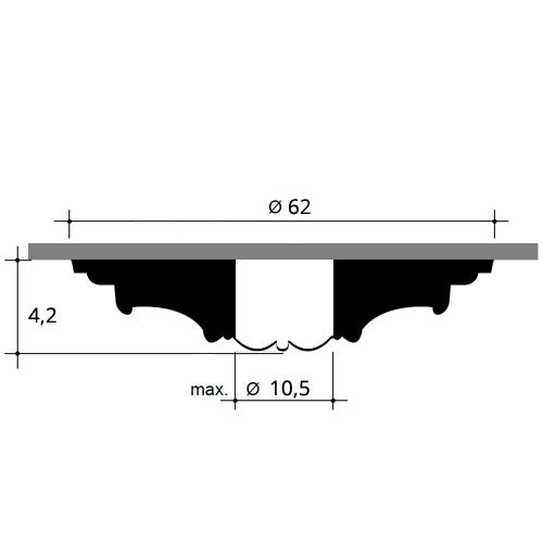 Stuckrosette R77 Durchmesser 62 cm – Bild 2