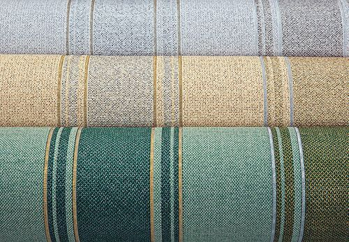 Stripes wallpaper wall covering EDEM 508-24 blown vinyl wallcovering textured fabric look and metallic highlights brown red-brown pearl-gold silver 5.33 m2 (57 ft2) – Bild 3