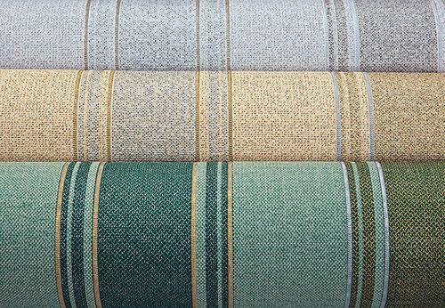 Streifen-Tapete EDEM 508-24 Hochwertige geprägte Tapete in Textiloptik und Metallic Effekt rot-braun perl-gold silber 5,33 m2 – Bild 3
