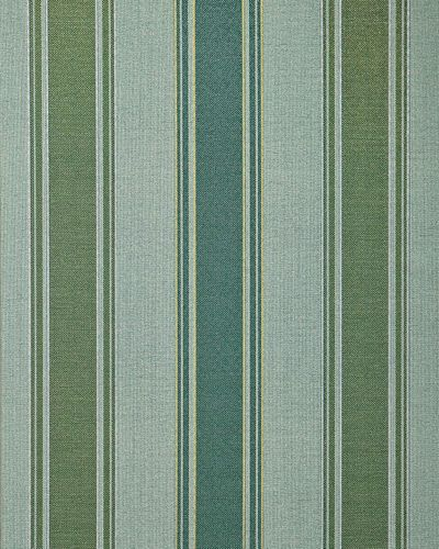 Stripes wallpaper wall covering EDEM 508-25 blown vinyl wallcovering textured fabric look and metallic highlights green pine-green pearl-gold silver 5.33 m2 (57 ft2) – Bild 1