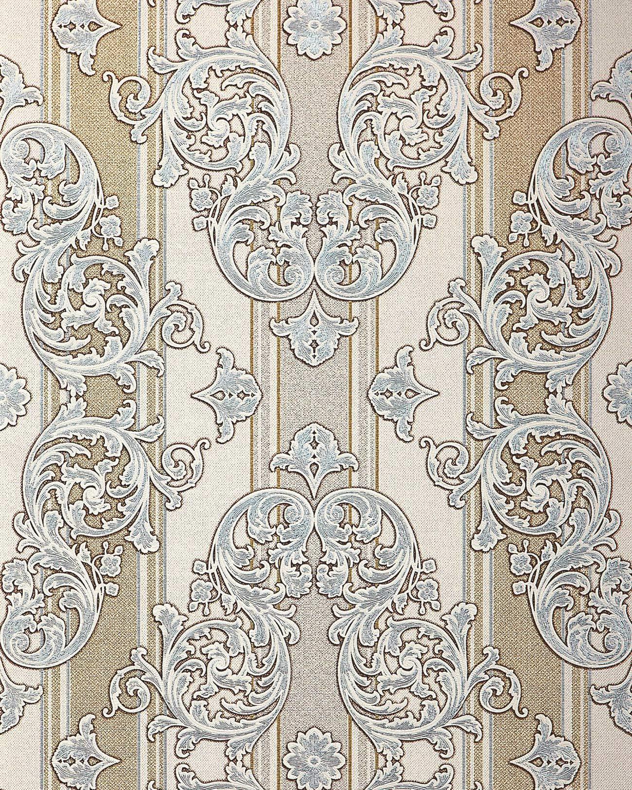 barock tapete edem 580 30 hochwertige gepr gte tapete in textiloptik und metallic effekt hell. Black Bedroom Furniture Sets. Home Design Ideas
