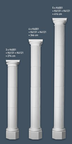 Media Columna Fuste Segmento Elemento decorativo de estuco Orac Decor K4001 LUXXUS Forma en relieve 72 cm – Imagen 2