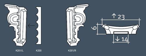 Pilaster Kapitell Set Orac Dekor K201LR LUXXUS Links und Rechts für Pilasterschaft K200 Türumrandung – Bild 3