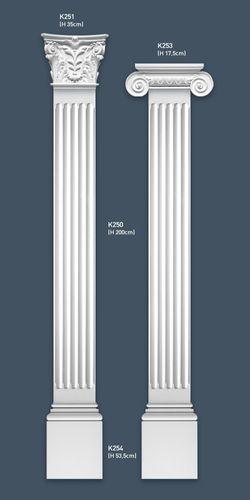 Pilastra Capitel Elemento decorativo de estuco Orac Decor K251 LUXXUS ligero y resistente Hoja de acanthe – Imagen 2