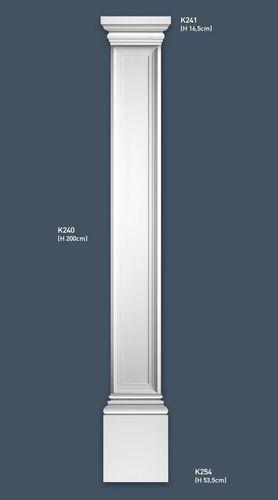 Pilaster Stuck Orac Dekor K254 LUXXUS Sockel Stuck Dekor Element aus leichtem stabilem Hartschaum weiß | 53 cm – Bild 2
