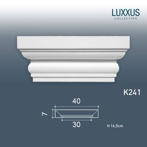 Orac Decor K241 LUXXUS Stuck Pilaster Kapitell Stuck-Dekor-Element leicht stabil