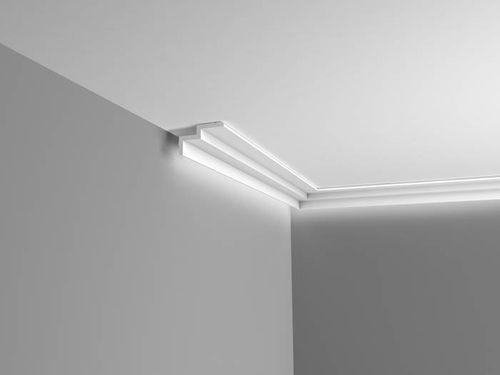 Cornisa Orac Decor C390 MODERN STEPS Moldura para luz indirecta Moldura para decoración de pared y techo 2m – Imagen 2