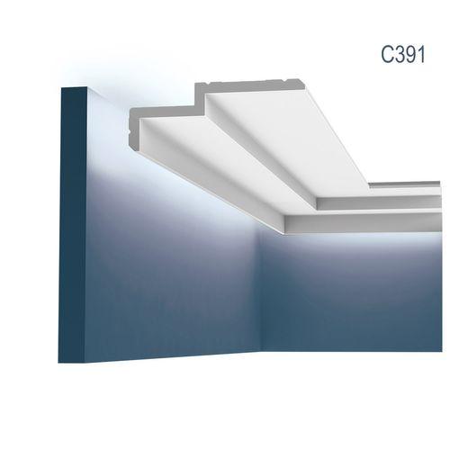 Orac Decor C391 MODERN STEPS Eckleiste Zierleiste Indirekte Beleuchtung 2 m – Bild 1