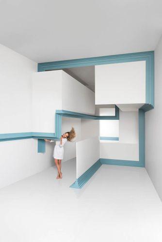 Cornisa Orac Decor C393 MODERN STEPS Moldura para decoración de pared y techo 2m – Imagen 4