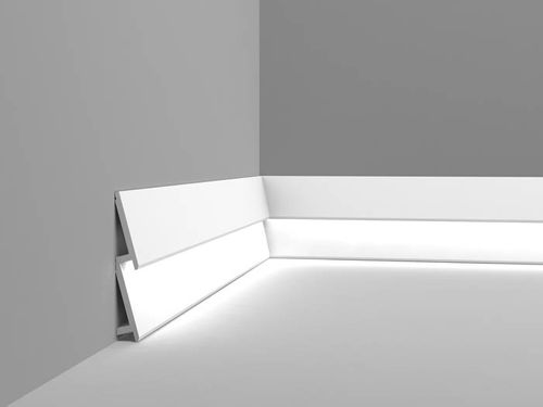Plinthe Orac Decor SX179 MODERN DIAGONAL Moulure décorative design moderne blanc 2m – Bild 2