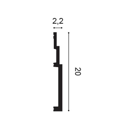 Orac Decor SX181 MODERN HIGH LINE Sockelleiste Zierleiste Fußleiste 2 m – Bild 2