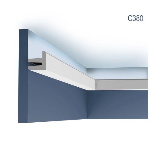 Eckleiste Orac Decor C380 MODERN L3 Indirekte Beleuchtung Zierleiste Modernes Design weiß 2m – Bild 1