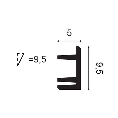 Orac Decor C381 MODERN L3 Eckleiste Zierleiste Indirekte Beleuchtung 2 m – Bild 2