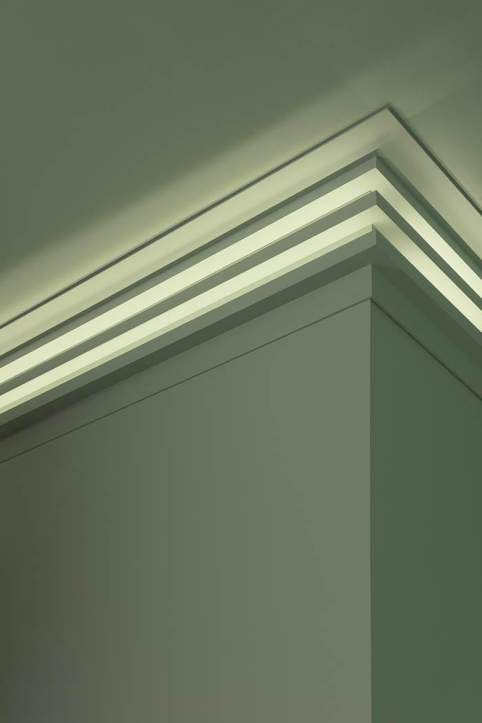 Cornisa Orac Decor C382 Modern L3 Moldura Para Luz Indirecta Moldura Para Decoración De Pared Y Techo 2m