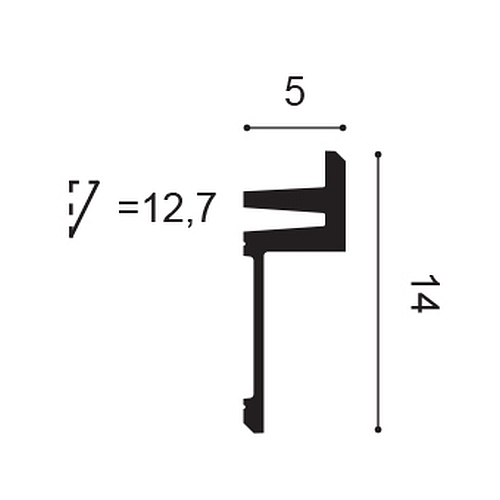Orac Decor C382 MODERN L3 Eckleiste Zierleiste Indirekte Beleuchtung 2 m – Bild 2