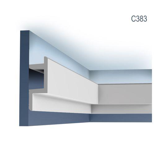 Eckleiste Orac Decor C383 MODERN L3 Indirekte Beleuchtung Zierleiste Modernes Design weiß 2m – Bild 1