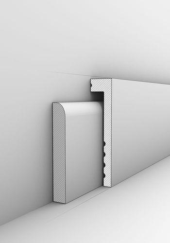 Sockelleiste Orac Decor SX171 AXXENT Abdeckleiste Zierleiste Fußleiste Modernes Design weiß 2m  – Bild 2