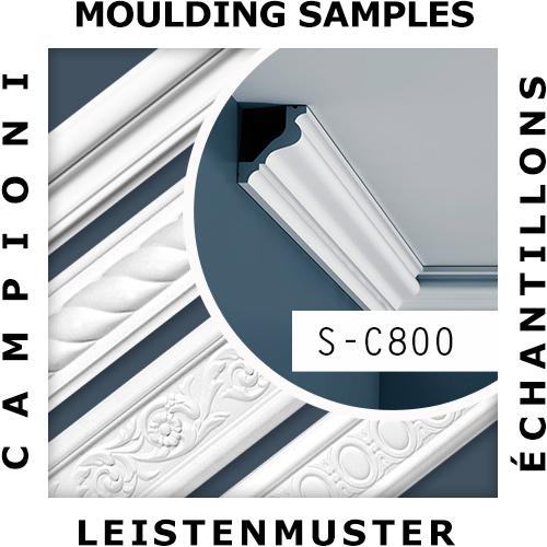 1 ÉCHANTILLON S-C800 Orac Decor XTERIO | Échantillon Corniche d'extérieur Moulure décorative Longueur env. 10 cm – Bild 2