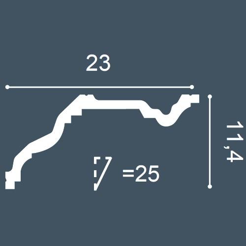 1 ÉCHANTILLON S-C832 Orac Decor XTERIO | Échantillon Corniche d'extérieur Moulure décorative Longueur env. 10 cm – Bild 4