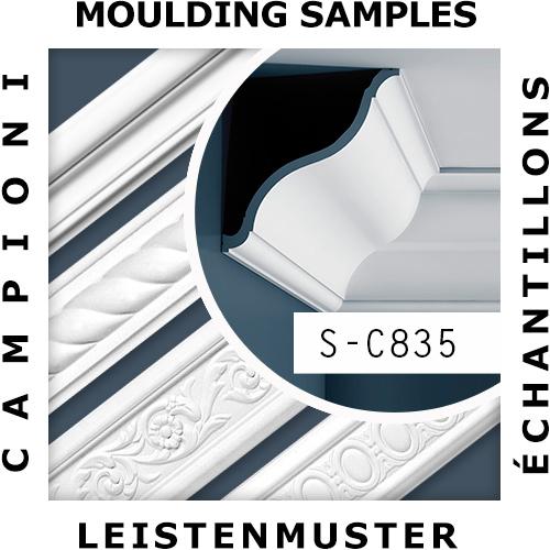 1 ÉCHANTILLON S-C835 Orac Decor XTERIO | Échantillon Corniche d'extérieur Moulure décorative Longueur env. 10 cm – Bild 2