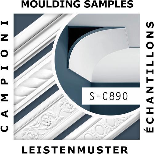 1 ÉCHANTILLON S-C890 Orac Decor XTERIO | Échantillon Corniche d'extérieur Moulure décorative Longueur env. 10 cm – Bild 2