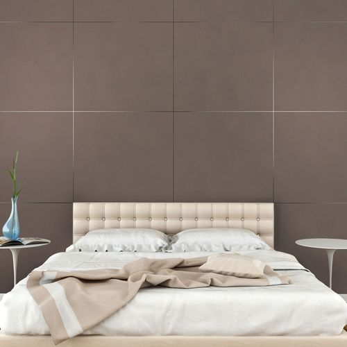 Wall panel leather look WallFace 19024 DOVE TALE smooth decor panel nappa leather look matt self-sticking brown gray-beige 2,6 m2 – Bild 3
