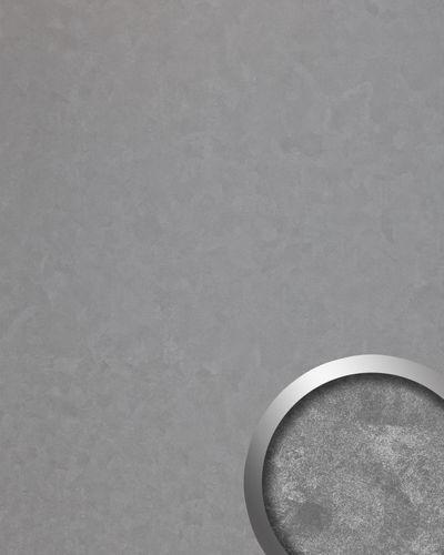 Wandpaneel Vintage Look WallFace 19337 CLASSY SILVER Wandverkleidung glatt in Metall Optik glänzend selbstklebend abriebfest silber 2,6 m2 – Bild 1