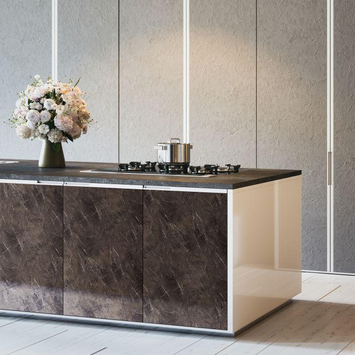 wandpaneel marmor optik wallface 19342 marble brown wandverkleidung glatt in naturstein optik. Black Bedroom Furniture Sets. Home Design Ideas