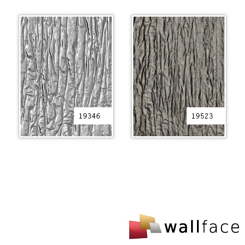 Decor Panel used look WallFace 19346 CRASHED MIRROR embossed design panelling metal look glossy self-sticking silver 2,6 m2 – Bild 3