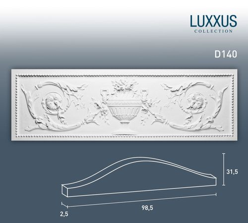 Orac Decor D140 LUXXUS Türaufsatz Pediment Stuckprofil Gesims Wand-Dekor-Element