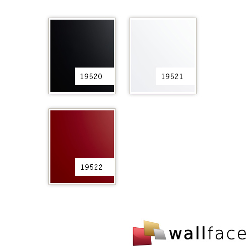 Panel de pared aspecto plástico WallFace 19522 Magic Red liso Panel decorativo unicolor mate autoadhesivo resistente a la abrasión rojo 2,6 m2 – Imagen 2