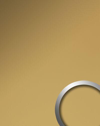 Wandverkleidung Metalloptik WallFace 19603 Brass matt Wandpaneel glatt unifarben matt selbstklebend abriebfest gold 2,6 m2 – Bild 1