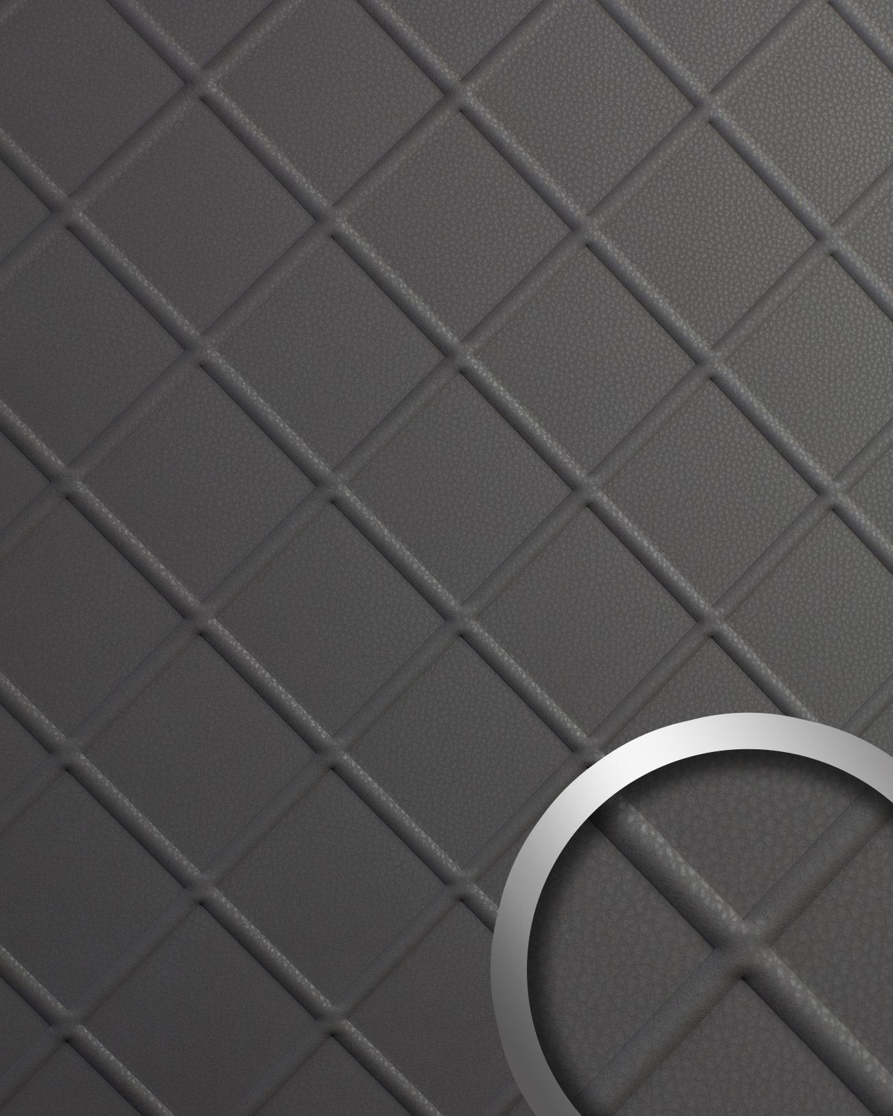 panneau d coratif aspect cuir wallface 19546 cord charcoal. Black Bedroom Furniture Sets. Home Design Ideas